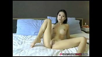 asian couple fucking the chair on Mom makes me taste my cum