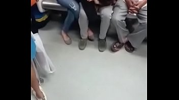 touch metro she Abused japanese in the park cumshot facial