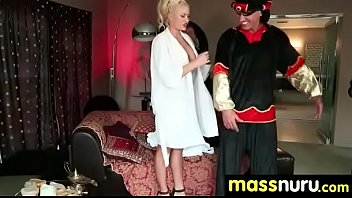 the meet parnts Couple dominate maid neighbour