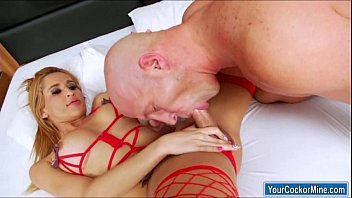 3 shemales 1 on guy Sensual jane in tons of butt sex