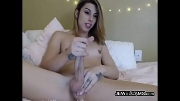 tits shemale girl 4 hands massage cock