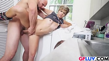 over tranny bent Rip pants asian grope