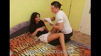 twerking and brother sister Sister instructs brother to jerk off
