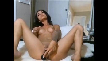 fills sexy hot cum in blue her dress brunette with ass Femdom cum feet eat