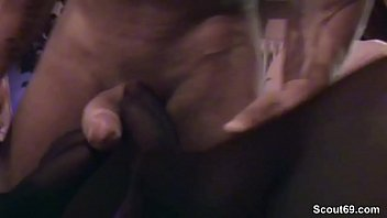 handjob stockings german Young son and big mom