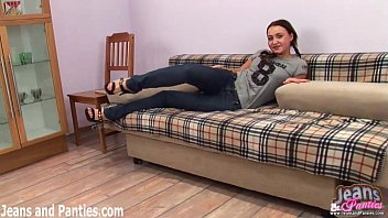 dancer jeans in tight belly Wife gets finguered by
